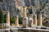 The temple of Apollo in Delphi. Greece — Stock Photo