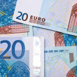 Twenty Euro banknotes background — Stock Photo