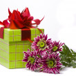 Gift box with beautiful flowers — Stock Photo #1639876