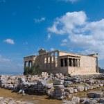 Erecthion temple on acropolis, Athens — Stock Photo #1655042