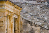 View of the Greek ancient theater — Stock Photo