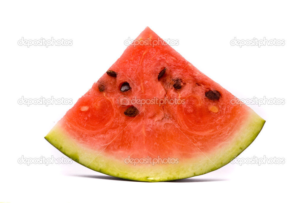 Slice of water-melon on a white background — Stock Photo #1693335