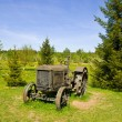 Old wheeled tractor — Stock Photo