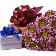 Gift box with beautiful flowers — Stock Photo #1791907