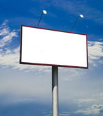 Blank big billboard over blue sky — Stock Photo
