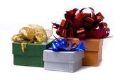Tres de regalo caja studio shot — Foto de Stock