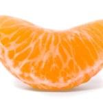 Juicy tangerine on a white background — Stock Photo #1808911