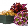 Gift box with beautiful flowers — Stock Photo #1857907