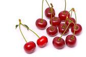 Fresh cherry on white background — Stock Photo