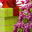 Gift box with beautiful flowers — Stock Photo #1900803