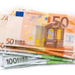 100 and 50 Euro banknotes - Stock Photo
