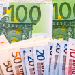 Euro banknotes background — Stock Photo