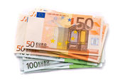 100 and 50 Euro banknotes — Stock Photo