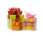 Three gift box studio shot — Stockfoto