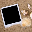 Photo frame with sea shells — Stock Photo #2263247