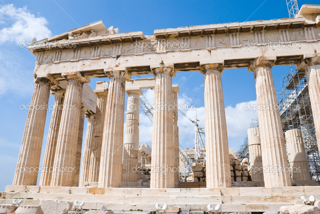 The Temple of Athena at the Acropolis, Greece, Parthenon — Stock Photo #2405940
