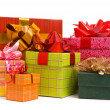 Stock Photo: Gift boxes on a white background