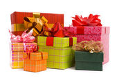 Gift boxes on a white background — Стоковое фото