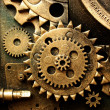 Gears from old mechanism — Stockfoto