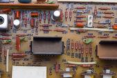 электронные пластины фон — Стоковое фото