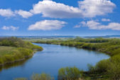 Spring river view — Stock Photo