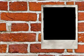 Vintage photo on old bricks wall — Foto de Stock