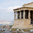Erechtheion temple on acropolis — Stock Photo