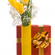 Bouquet from yellow tulips — Stock Photo