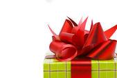 Colpo di macro di regalo su sfondo bianco — Foto Stock