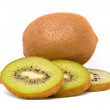 Stock Photo: Kiwi isolated on white background