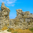 Ruins of ancient greek colony Khersones — Stock Photo
