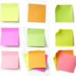 Colored note papers — Stock Photo #2633327