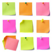 Colored note papers — Stockfoto