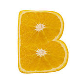 Citrus font. Letter B — Stock Photo