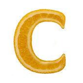 Citrus font. Letter C — Stock Photo