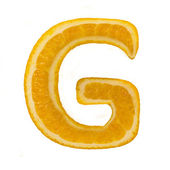 Citrus font. Letter G — Stock Photo