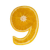 Citrus font. 9 — Stock Photo
