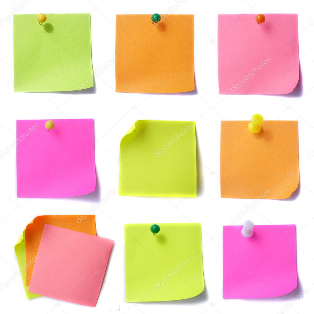 Colored note papers — Stock Photo #2633464