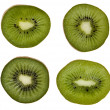 Kiwi slices isolated white background — Stock Photo