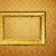 Vintage frame over golden wallpaper — Stock Photo #2677636