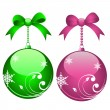 Stock Vector: Holiday balls