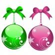 Holiday balls — Stock Vector