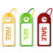 Discount sale tags — Stock Vector