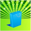 Holiday sale bag with background - Vektorgrafik