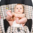 Stock Photo: Baby in car seat