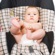 Stockfoto: Baby in car seat