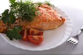 Salmon prepared — Stock Photo