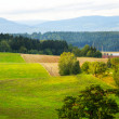 Stock Photo: Plowed field in Czech