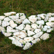 Stock Photo: Heart made with stones