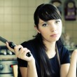 Beautiful woman in kitchen — Stock Photo #2654342